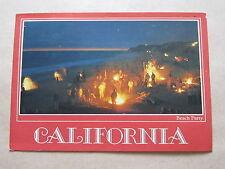 California, Beach Party, San Diego, USA, Postcard 1988