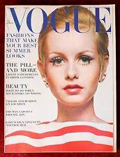 Vogue Magazine ~ April 15, 1967 ~ Twiggy Helmut Newton De Rosnay Penn