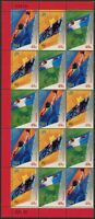 Australia 2000 SG1992 49c Paralympics block of 15 missing Tasmania MNH