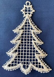 Christmas Decoration/Ornament - cream lace - Christmas tree