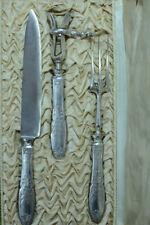 En Argent Minerve service a découper 3 pièces Empire Palmettes Napoléon III