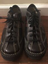 BORN Men's Black/brown Leather Sneakers Oxford Shoes Lace Up Size 9 M