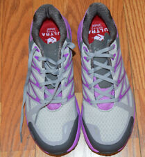 NEW Womens THE NORTH FACE Gray Purple Ultra Endurance Trail Running Shoes 8.5