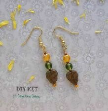 Changing Colors ~  Czech Beaded Jewelry Making Earring Kit Photo Instructions