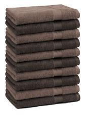 Lot de 10 serviettes d'invité Premium couleur: marron foncé & marron noisette