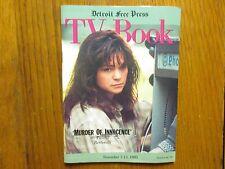 Nov 7-1993 Detroit Free Press TV Book/Mag(VALERIE BERTINELLI/MURDER OF INNOCENCE
