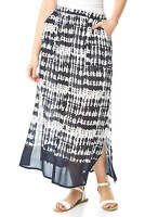 Roman Originals Women Tie Dye Boho Print Midi Length Gypsy Skirt