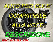 KIT Ruotino da 15 Ford KA 1.2-Fiat Panda Cross 125-80-15 L.Ypsilon-500 Qubo