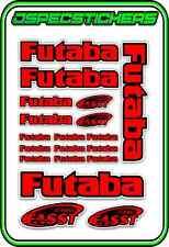FUTABA RC STICKERS A5 SHEET R/C PLANE CAR BUGGY HELI REMOTE CONTROL RED BLACK