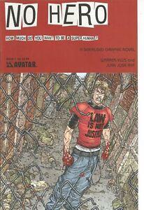 °NO HERO #1 von 7 WARREN ELLIS INDI MASTERWERK° Avatar Comics English 2008