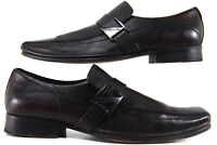 Kenneth Cole New York RUN AROUND Men's Size 9M Brown Leather Slip On Loafers