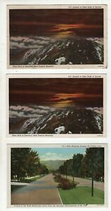 3 Vintage Post Cards - Pikes Peak and Fort Collins - Colorado