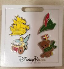 Disney Parks Authentic 2017 Peter Pan 4 Pin Themed Set on Card