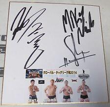 Yoshihiro Takayama Kenta Shane Haste Mikey Nicholls Signed Shikishi PSA/DNA WWE