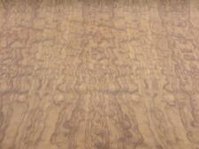 "Bubinga Waterfall Figured Quilted wood veneer 48"" x 48"" with wood backer 1/25"""