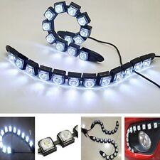 2x Car Flexible 12 LED DRL Daytime Running Light Driving Daylight Fog Light Lamp