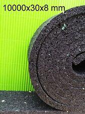 (1,65€/m) 10.000x30x8 mm Terrassenpad Terrassenpads Gummigranulat Rolle  Gummi