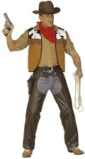 Brown Wild West Leather Effect Chaps Cowboy Fancy Dress Costume