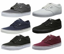 e1ea59ddb74c VANS Atwood Canvas Fashion Skater Shoes Plimsolls Grey Navy Black White  Trainers