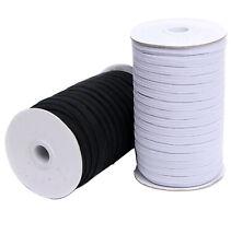 Flat Elastic Cord-Sewing-3mm,5mm,6mm,8mm,10mm,12mm-10 Meters