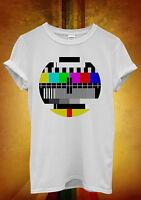 Test Pattern Retro TV Cool Funny Men Women Unisex T Shirt Tank Top Vest 475