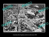 OLD 6 X 4 HISTORIC PHOTO OF CANTERBURY KENT ENGLAND AERIAL VIEW OF TOWN c1950 4