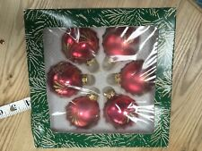 B&Q Christmas Tree Glass Baubles X 6 . Boxed . MR8462