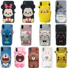 3D KT Bear Stitch Cat Cony Doraemon Wallet Airpod Bag Soft Phone Case For OPPO