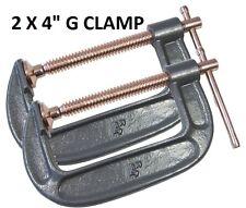 """Pack OF 2 Heavy Duty 100mm 4"""" G Clamp Vice Wood Metal Steel DIY Welding Work New"""