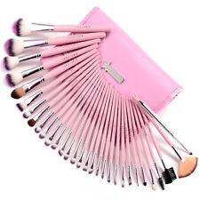 Fräulein3°8 Lot 31 pinceaux de maquillage cosmetique pro + trousse rose NEUF