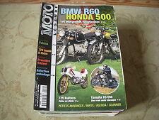 MOTO LEGENDE 114 06.2001 BMW R60 HONDA 500 FOUR YAMAHA XS 650 GNOME & RHONE 125