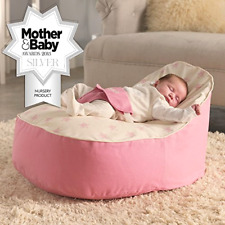 Bambeano Baby Bean Bag Support Chair Pink With 'my 1st Bag' Cover