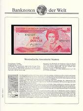 Banknotes of World East Caribbean 1985 UNC P-17v St. Vincent