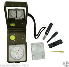 10-IN-1 Survival Camping Tool Compass Thermometer Fire Starter Light and More!!
