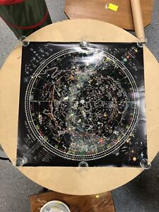 1981 Celestial Arts Map of the Universe by Thomas J. Filsinger Glows in the Dark