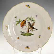 """Herend 1525/RO Rothschild Hand Painted Jewelled 10"""" Dinner Plate Pasta Plate (B)"""