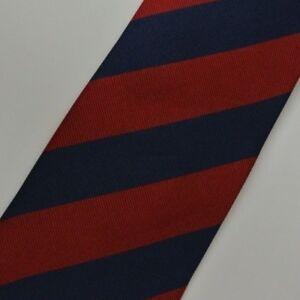 BLUE BURGUNDY Striped Self Tipped Silk Tie