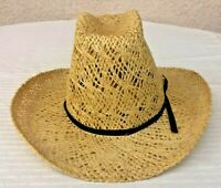 American Hat Co. ~ Tumble Weave Summer Straw Cowboy Hat ~ Size 6 7/8