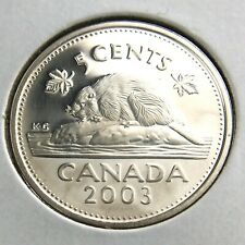 2003 Canada 5 Cents Nickel Proof Uncirculated Canadian Coin N363