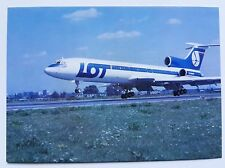 LOT Polish Airlines official postcard TU-154M