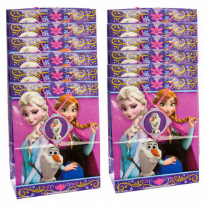 12pk Disney Frozen Gift Bags 10x13 All-Occasion Large Size Packages With Handles