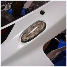 Hotbodies Racing Smoke Flushmount Turn Signal / Mirror Block Off Plate Front