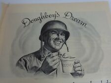 Sealright Doughboys Dream Magazine Ad Print 1944 WWII Sanitary Paper Containers