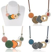 New Fashion Women Woven Acrylic Pendant Choker Collar Chain Bib Necklace Jewelry