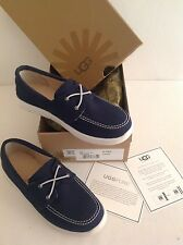 Authentic 100% UGG Australia Youth Anchor Boat Shoes Navy 5 UK or 36 EU