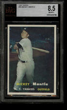 "1957 TOPPS #95 MICKEY MANTLE BVG 8.5 NM-MT+ HOF NEW YORK YANKEES MVP THE ""MICK"""