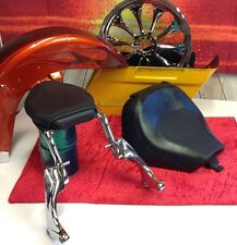 Very Rare Harley Rocker C Trick convertable seat Passenger seat & Solo Seat FXCW