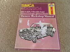 Simca 1100 & 1204 Haynes Manual - 1967/1974 - All Models