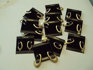 WHOLESALE GOLD PLATED EARRINGS LIANNA 12 PAIRS ASSORTED