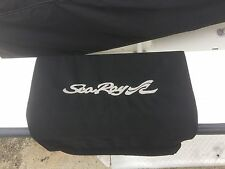 "Sea Ray embroidered Boat Boarding mat Black 20""x36"""